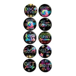 70er Jahre disco Fever Button Badges
