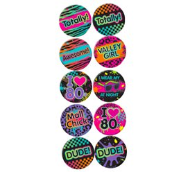 Total 80er Jahre Button Badges