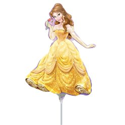Disney Belle aufgeblasener Mini-Folienballon 23cm