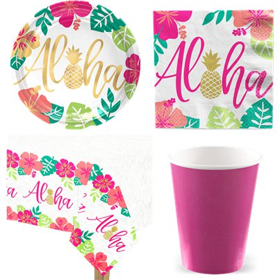 Aloha Sommer - Party-Set - Für 8 Personen