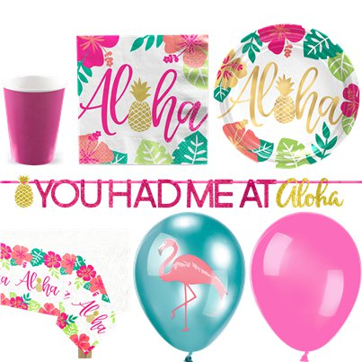 Aloha Sommer - Premium Party-Set - Für 16 Personen