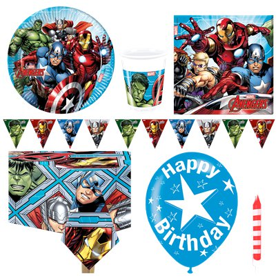 Avengers - Premium Party-Set - Für 8 Personen