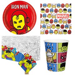 Avengers Pop-Art Comic - Party-Set - Für 8 Personen