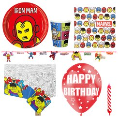 Avengers Pop-Art Comic - Premium Party-Set - Für 8 Personen