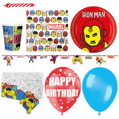 Avengers Pop-Art Comic - Premium Party-Set - Für 16 Personen