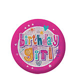 """birthday girl"" Holographischer Button 5,5cm"