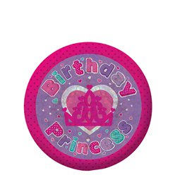 """Birthday Princess"" - Holographischer Button 5,5cm"