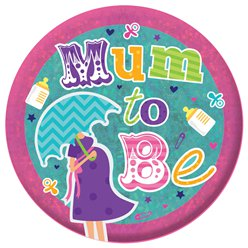 """Mum To Be"" - werdende Mutter holographischer Button 15cm"