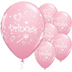 """Princess"" Rosa Luftballons aus Latex 28cm"