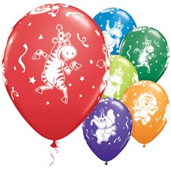 Party Animals Luftballons aus Latex 28cm