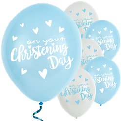 "Blaue Taufe - ""On Your Christening Day"" Luftballons aus Latex"