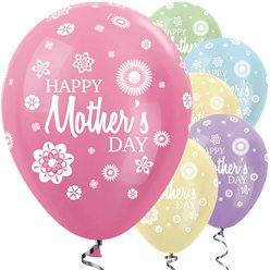 "Bunte seidige ""Happy Mother's Day"" Muttertag Luftballons 30cm"