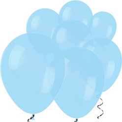 Pastellblaue Mini-Luftballons aus Latex 12,7cm