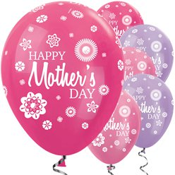 "Fuchsiafarbene & lila ""Happy Mother's Day"" Muttertag Luftballons 30cm"