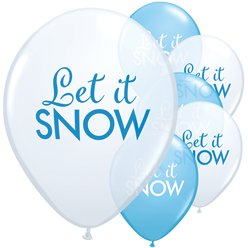 "Schimmernder Schnee - ""Let It Snow"" Luftballons aus Latex 28cm"