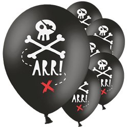 Piraten Totenkopf Luftballons aus Latex 30cm