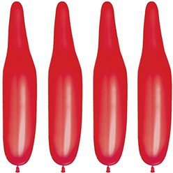 Rote modellierbare Ballons aus Latex