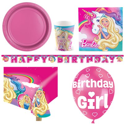 Barbie Dreamtopia - Premium Party Deko Set - Für 8 Personen