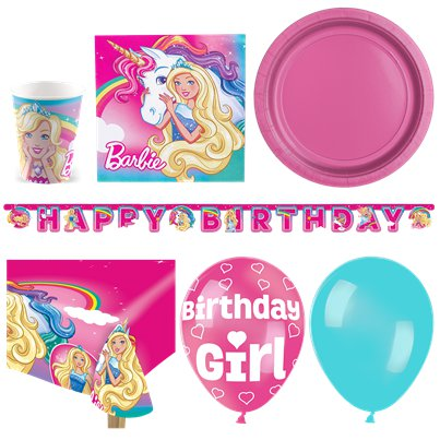 Barbie Dreamtopia - Premium Party-Set - Für 16 Personen