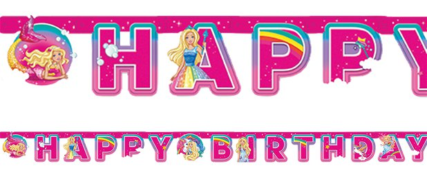 "Barbie Dreamtopia - ""Happy Birthday""-Girlande 1,6m"