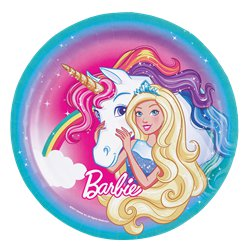 Barbie Dreamtopia - Pappteller 23cm