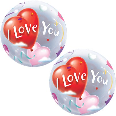 """I love you"" Valentinstag Seifenblasenballon 56cm"