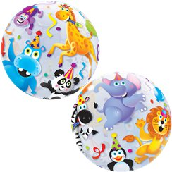 Party Animals - Runde Bubble Ballons 56cm