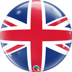 Union Jack Großbritannien Bubble Ballon 56cm