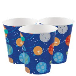 Astronauten Party - Pappbecher 266ml