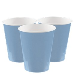 Hellblaue Pappbecher 266ml