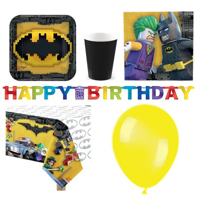 LEGO Batman - Premium Party Deko Set - Für 8 Personen