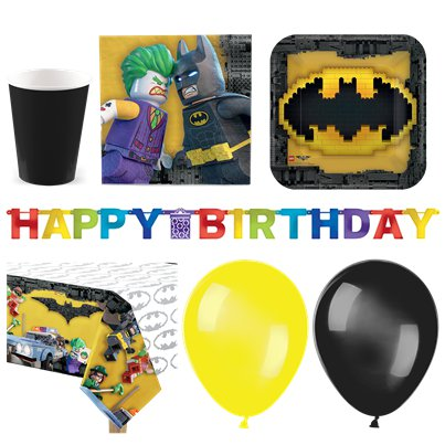 LEGO Batman - Premium Party Deko Set - Für 16 Personen