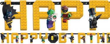 "Lego Batman - ""Happy Birthday"" Girlande"