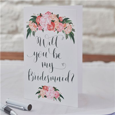 "Boho-Chic - ""Will you be my bridesmaid?"" - ""Willst du meine Brautjungfer sein?"" Karten"