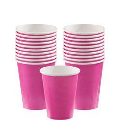 Pinke Pappbecher 266ml