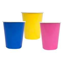 Bunte Pappbecher 250ml