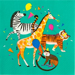 Party Animals - Papierservietten 33cm