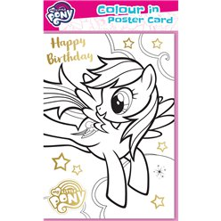 My Little Pony - Posterkarte zum Ausmalen