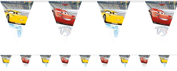 Disney Cars 3 - Girlande 2,3m