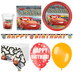 Disney Cars - Premium Party-Set - Für 16 Personen