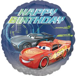 Cars - Happy Birthday Folienballon 46cm