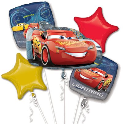 Cars Lightening McQueen Ballon Bouquet - Gemischte Luftballons