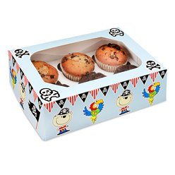 Piraten Cupcake-Box - 6 Cupcakes