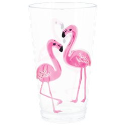 Flamingo Hohes Plastikglas 680ml