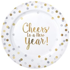 "Cheers - ""Cheers to a New Year"" Premium-Plastikteller 26cm"