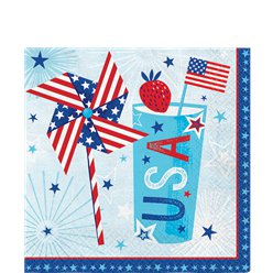Celebrate USA - Amerika Servietten 33cm