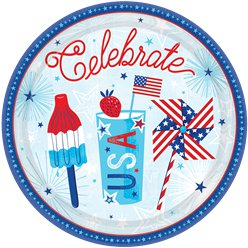 Celebrate USA - Pappteller 27cm