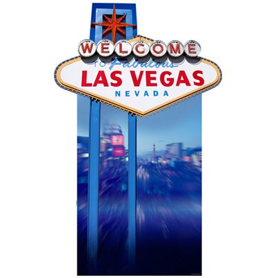 """Welcome to Vegas"" Schild aus Karton 188cm"