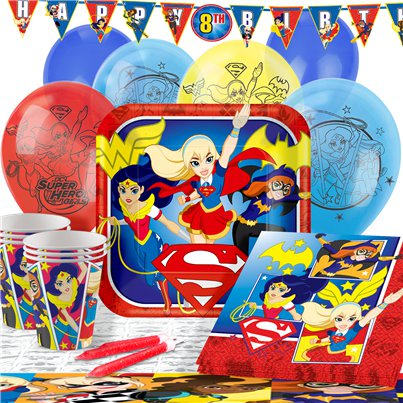 DC Superheldinnen - Premium Party Deko Set - Für 16 Personen