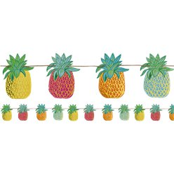 Ananas-Girlande - Hawaii Deko 3m